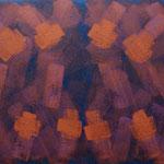 o.T., 2018 - III, Acryl auf Jute, 80 x 100 cm