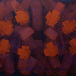 o.T., 2018 - II, Acryl auf Jute, 70 x 100 cm
