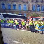 Demo Dresden Touristik kurz vor der Ohnmacht