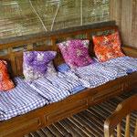 Terrasse unserer Hütte