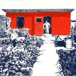Datsche | 18 x 24 cm | Farbstift und Gouache auf Papier | 2014