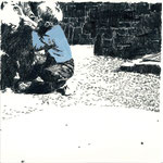 Im Hof | 20 x 20 cm | Farbstift und Gouache auf Papier | 2014