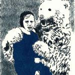 Eisbär | 18 x 13 cm | Farbstift und Gouache auf Papier | 2015