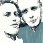 Selfie | 18 x 13 cm | Farbstift und Gouache auf Papier | 2015