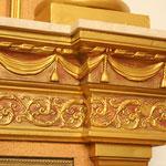 Detalle de los adornos de la hornacina del Yacente.