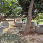 Cement tanks for washing clothes