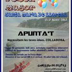 Alquiler de vacaciones en santa maría de Llorell, cartel de presentación de la fiesta mayor