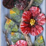 Blumen: 20 x 60 cm, 2016, Titel: anders.artig oder Die dunkle Rose