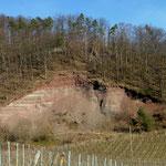 Geologisches Fenster am Teufelsberg bei Hohenhaslach 17.02.2008