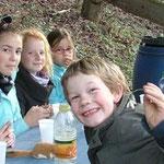 Viel Spaß hatten die Kinder beim Entdecken der Natur