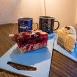 Lecker Kuchen und Tee