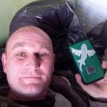 Ronny aus Groningen freut sich Über sein Smartphone sleeve