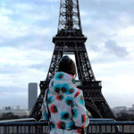 Rieke in Paris mit Ihrem MessengerBag !