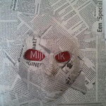 Mijn Ik, 30x30cm, gips/papier