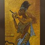 Ägyptische Dienerin, Airbrush und Aquarell
