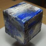 pigmentiertes Wachs, Pigmente/Öl auf Holzwürfel 10x10x10, November 2019
