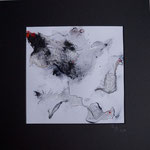 Gaze/Pigmente  30x30 mit Passepartout  2014