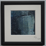 Pigmente in Öl auf Wachs,   Aquarellpapier  10x10,  April  2018