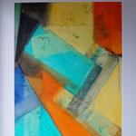 kleine Farbstudie III 40x50  mit Passepartout   2014  (Privatsammlung)