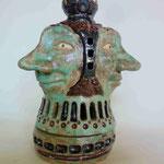 三面青銅釉香炉 2009年