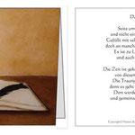 Klappkarte klein Buch des Lebens Trauerkarte