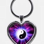 Energieanhänger Ying und Yang (Herz)