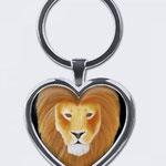 Sternzeichenanhänger: Löwe (Herz)