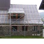 Die Arbeiten am Dach nehmen Form an