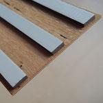 Rückseite Paneel mit Klebstreifen zur einfachen Wandmontage
