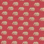 Nepal Papier Elefanten gold auf Lackrot