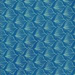 Lotusblatt königsblau smaragdgrün