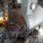 蒸し機に蒸気を送るボイラー、、、よし。