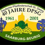 Sticker zum Aufnähen Pfadfinderschaft St. Georg