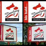 Ortsschild Saarburg