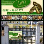 Schild für Außentor Leo's Wohnart
