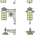 Почти готические фонари.Дизайн Алисова И.