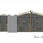 """Ворота """"барочные"""".Дизайн Алисова И."""