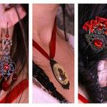 Bijoux accompagnant la robe, créés sur mesure