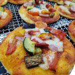 夏野菜(ピザ)見ためも味も美味しゅうございます