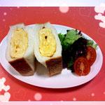しっとり・ヤギミルク食パンで厚焼き卵サンド🐔 byスタッフ