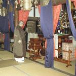 楞厳寺から送聖のお勤め