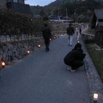 竹灯篭の準備