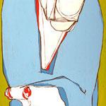 ENIGMA SILENTE (particolare) - 2006 - idropittura su tavola 213x45