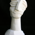 ENIGMA VOLTO - 2006 - gesso - 39x22x13
