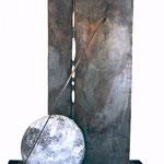 VERSO L'ORIZZONTE - 2003 - acciaio e fusioni in alluminio - 240x280x130