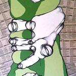 FRAGILI - 2008 - tecnica mista su tavola 170x50 [x3]