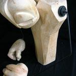 GUSTAV (c.g.jung) - 2006 - legno di recupero, acciaio - 62x55x42
