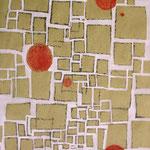 MAPPA DI GUERRA - 2004 - tecnica mista su carta - 48x33