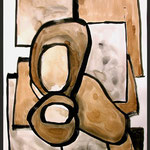 SEGRETO M - 2005 - guache - 50x35