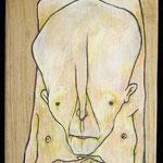 IL PAZIENTE -2014 -  tecnica mista su tavola 22x10